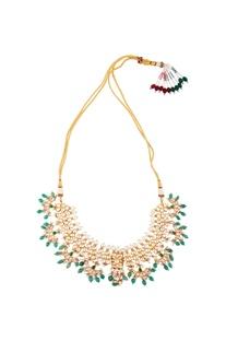 Kundan choker style necklace