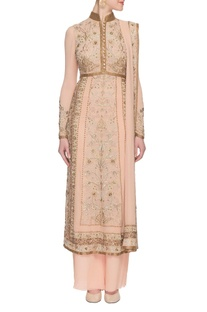 Blush pink floral embroidered kurta set