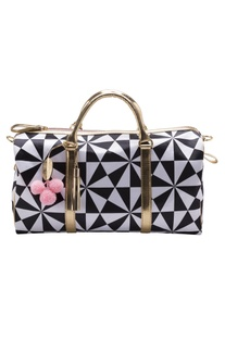 Black & white digital printed handbag