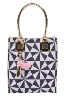 Black & white geometric handbag