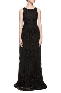 Black sequin enhanced gown