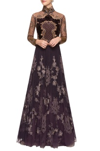 Purple & gold gown