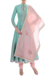 Light blue anarkali sets