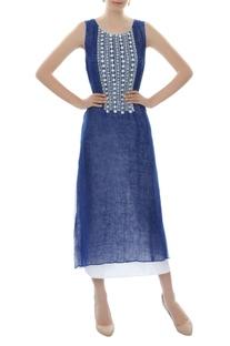 Dark blue embellished dress