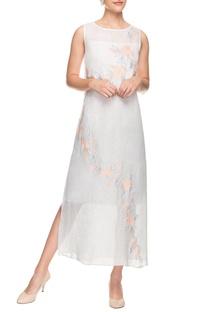 Off-white floral applique dress
