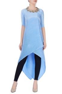 Sky blue asymmetric tunic