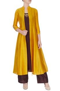 Yellow raw silk jacket