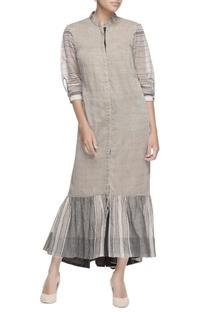 Grey ruffle layer dress