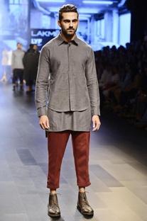 Ash grey layered shirt