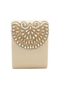 Light gold japanese beadwork clutch