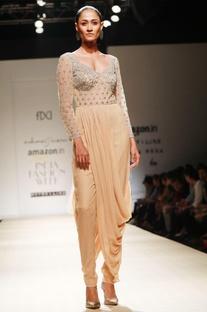 Honey embroidered dhoti drape jumpsuit