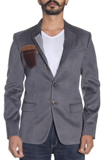 Grey deconstructed jacket