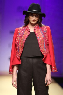Red embroidered jacket