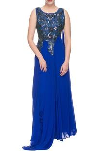 Royal blue embellished gown