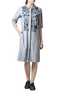 Light grey embellished tunic