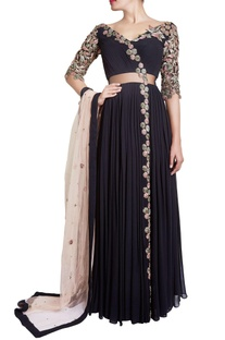 Black zardosi embellished anarkali