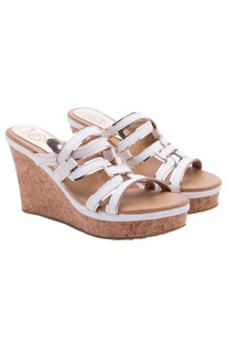 White Grecian style wedges