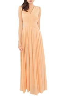 Peach pintuck gown