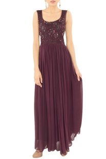 Mulberry embellished gown