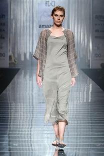 Silver grey linen jumpsuit