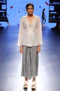 Grey khadi linen culottes