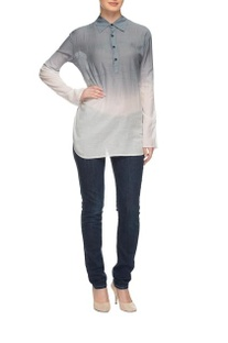 Grey & white ombre kurti shirt