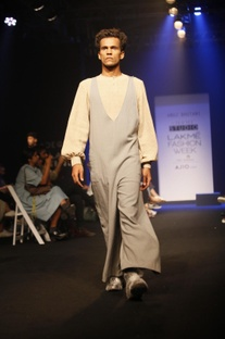 Grey jumpsuit with side pockets