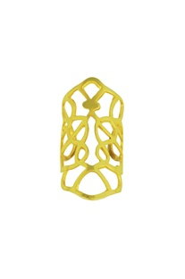 Gold plated hand cut ring