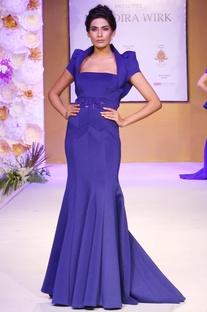 Cobalt blue embellished gown