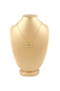 Gold plated double layer necklace