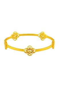 Gold plated filigree design bangle