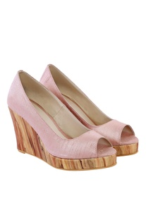 Victorian pink wood wedges