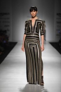 Black metallic maxi dress