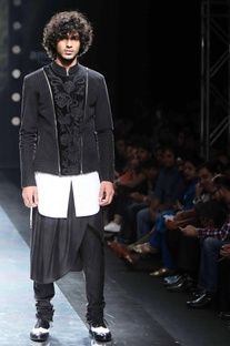 Plain black churidar