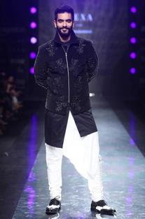 Black velvet embellished jacket