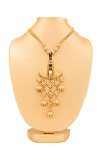 Gold plated necklace with jumki detail