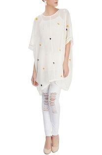 Off-white kaftan top