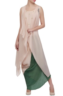 Beige & moss green skirt