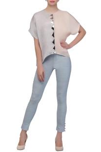 Pastel blue skinny pants
