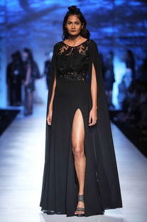 Black fit and flare gown