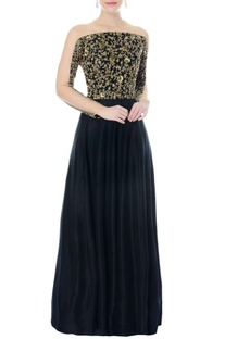 Black embellished anarkali gown