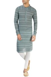 Light blue kurta with stripes