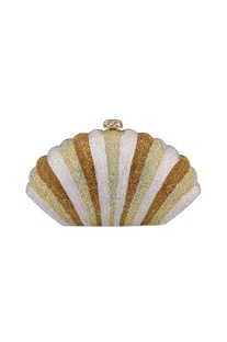 Multi-colored metal shell sling bag