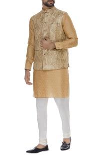 Kinkhwab brocade nehru jacket