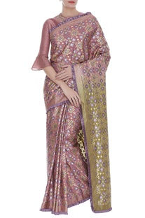 Embroidered Blouse With printed Saree