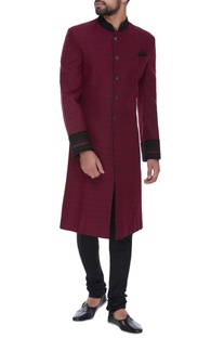 Embroidered sherwani with churidar