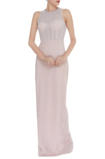 Cutdana Embroidered Corset Style Gown