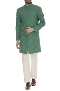 Thread embroidered sherwani