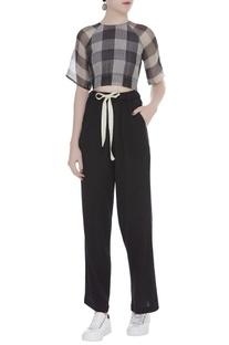 Textured Drawstring Pants