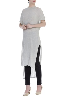 Textured Asymmetric Tunic